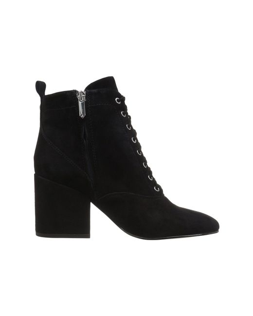 ... Sam Edelman - Black Tate Suede Ankle Boots - Lyst ...