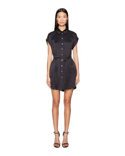 Lamarque   Black Anaba-s Sueded Silk Shirtdress   Lyst