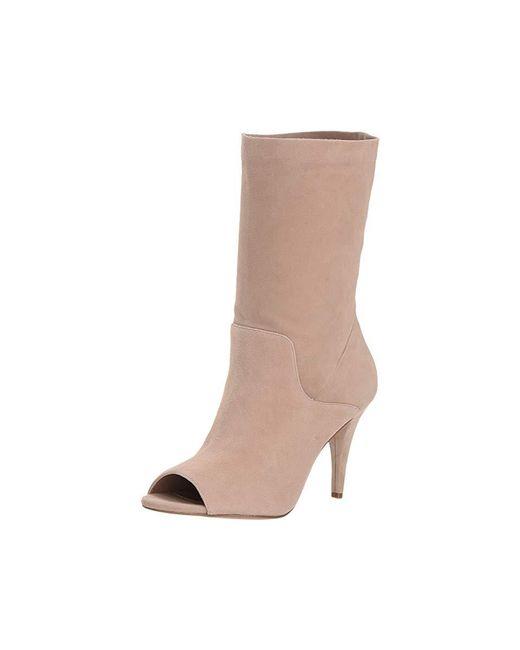 2bfb3c20d ... MICHAEL Michael Kors - Brown Elaine Open Toe Bootie (truffle Kid Suede)  Boots -