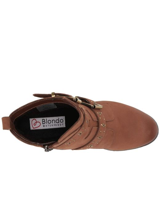 ceb037db576 Lyst - Blondo Daphne Waterproof Bootie in Brown - Save 43%