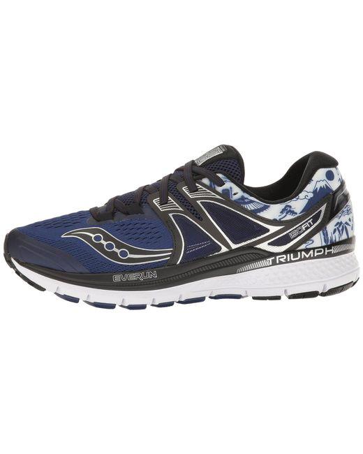 ... Saucony - Blue Tokyo Marathon Triumph Iso 3 for Men - Lyst ...