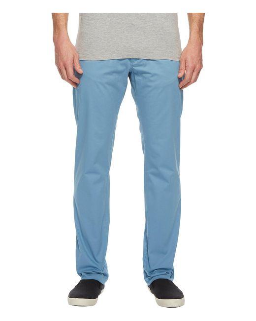Calvin Klein - Blue Slim Fit Four-pocket Stretch Sateen Pants for Men - Lyst
