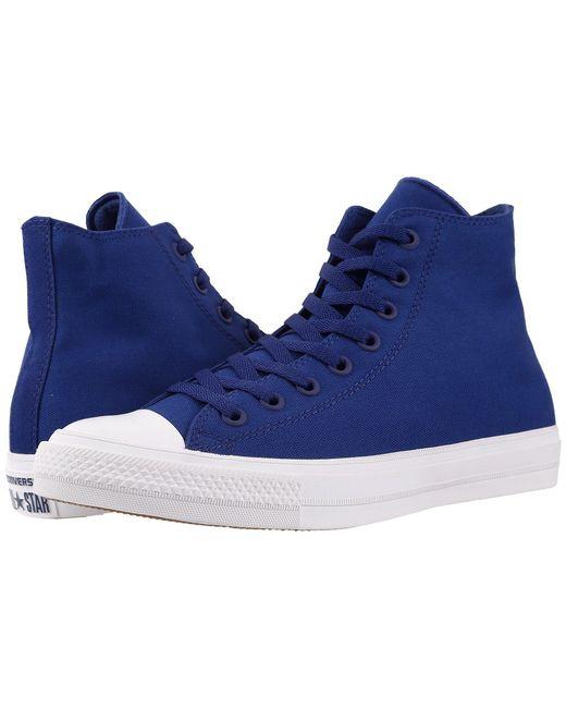 Converse - Blue Chuck Taylor® All Star Ii Hi for Men - Lyst