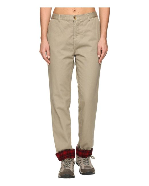 Woolrich - Natural Alderglen Flannel Lined Chino Pants - Lyst