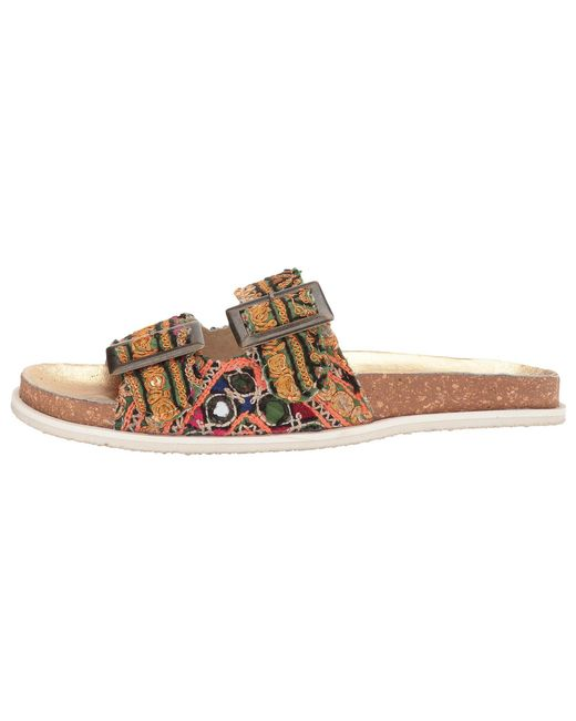 9c20deaae66 ... Free People - Red Bali Footbed - Lyst ...