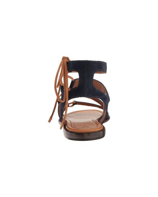 d5f46d323a68 Lyst - Frye Blair Side Ghillie Gladiator Sandal in Blue - Save ...