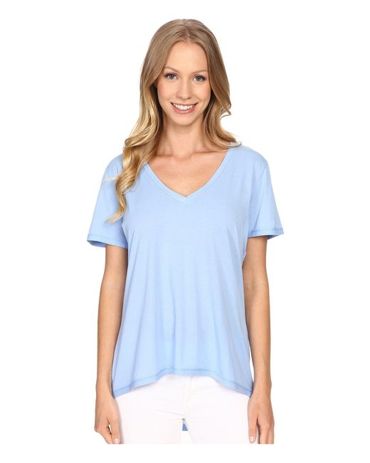 The Beginning Of - Blue Olivia V-neck High-low Tee - Lyst
