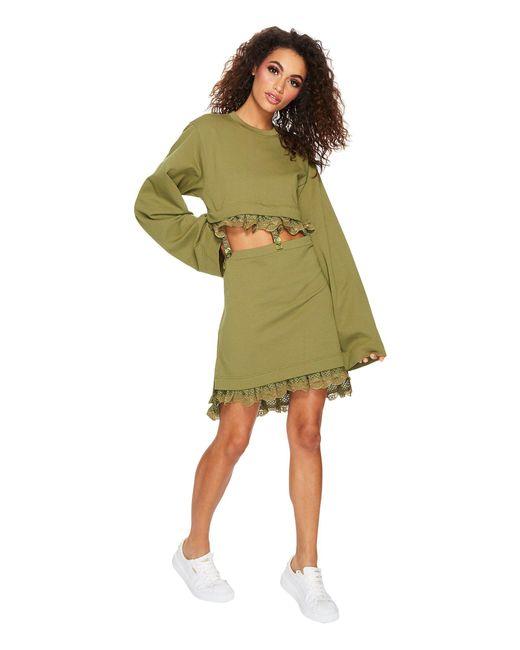 00f2bfe84872 PUMA - Green Fenty Kimono Sleeve T-shirt - Lyst ...