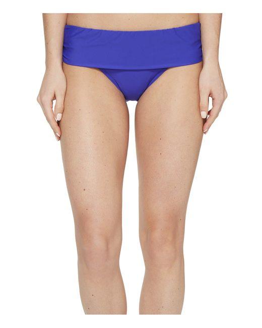 Athena - Blue Cabana Solids Lani Banded Bikini Bottom - Lyst