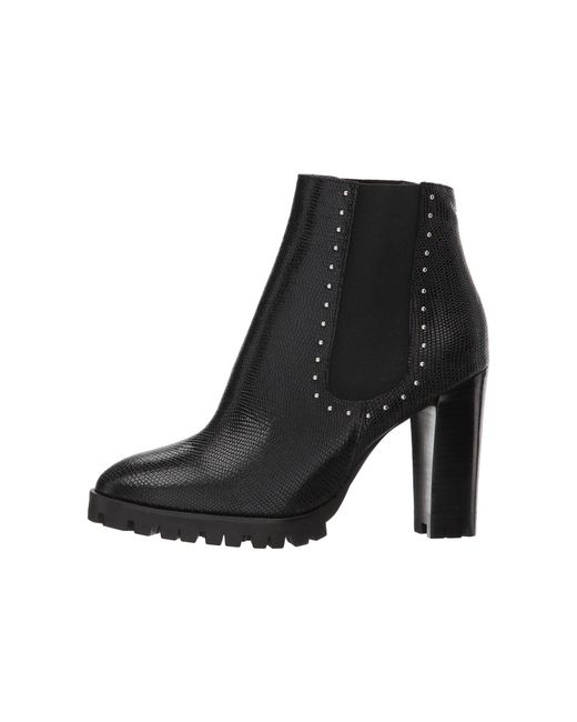 The Kooples Reptile-Effect Leather Boots with Studs CJMzy