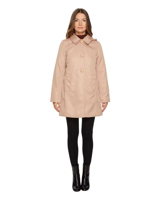 Kate Spade - Natural Rain Button Front Hooded Jacket - Lyst