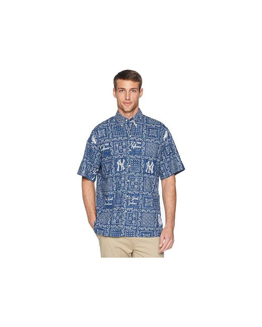 1de8598cd Reyn Spooner - Blue New York Yankees Original Lahaina Classic Fit Hawaiian  Shirt (navy) ...