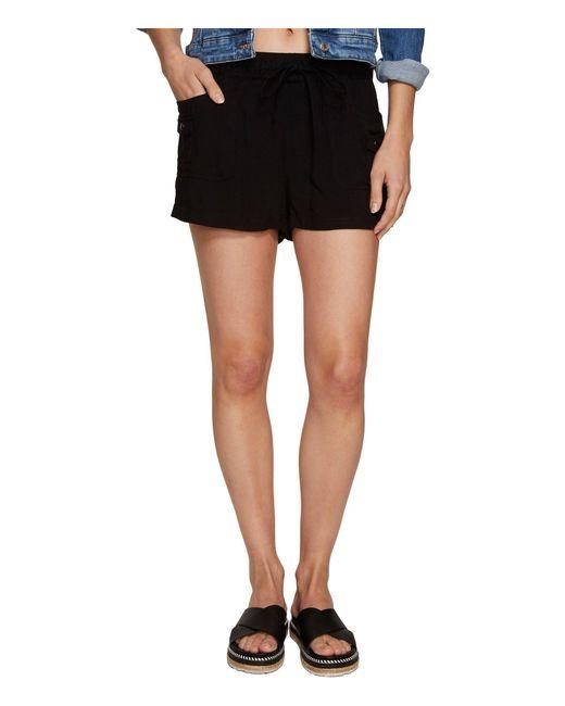Jack BB Dakota - Black Mosby Rayon Twill Cargo Shorts - Lyst