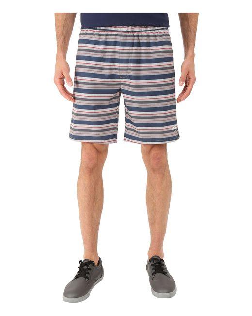 Travis Mathew - Blue Red Mr. Mills Shorts for Men - Lyst