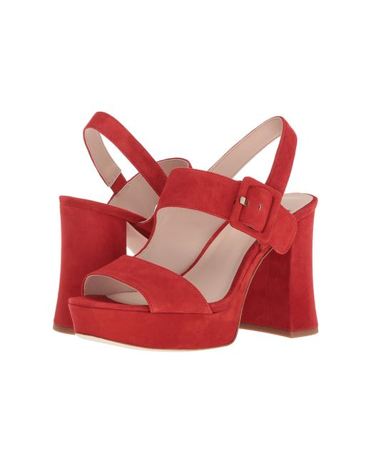 Nine West - Red Lexine - 40th Anniversary Capsule Collection Platform Sandal - Lyst