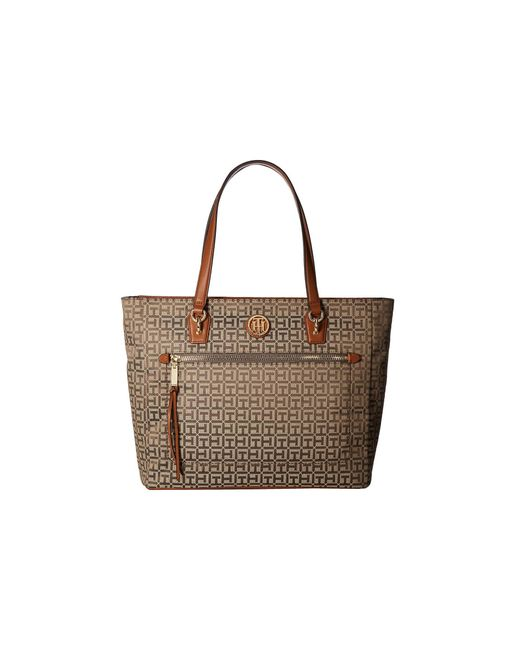 Tommy Hilfiger - Brown Shannon Tote - Lyst