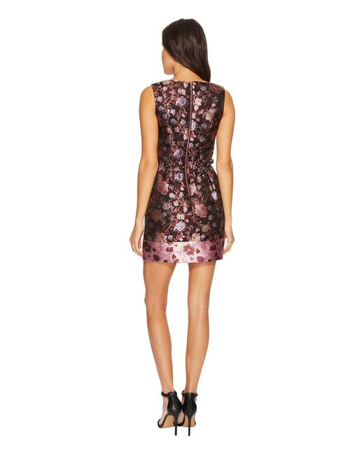 771ec2275a0 ... Laundry by Shelli Segal - Multicolor Printed V-neck Paperbag Waist  Detail Dress - Lyst ...