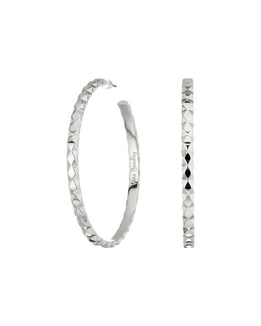 Vera Bradley - Metallic Chic Elements Large Hoop Earrings - Lyst