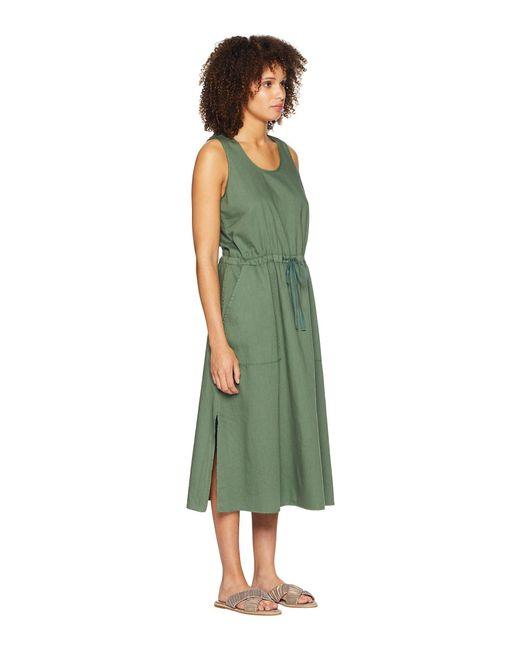 468242b6de01c0 Lyst - Eileen Fisher Scoop Neck C l Dress in Green - Save 49%