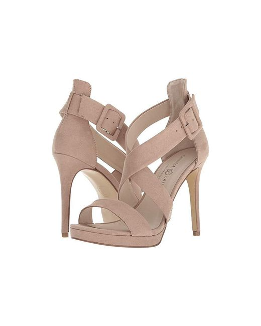 1011b7e2f9 Chinese Laundry - Natural Foxie (dark Nude Microsuede) High Heels - Lyst ...