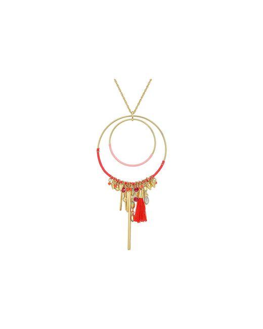 Rebecca Minkoff - Metallic Gemma Charm Pendant Necklace - Lyst