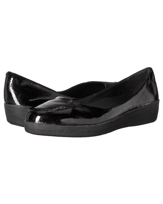 Fitflop | Black Patent Superballerina | Lyst