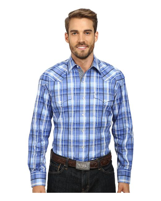 Stetson | Blue Squared Off Plaid Flat Weave W/ Satin for Men | Lyst