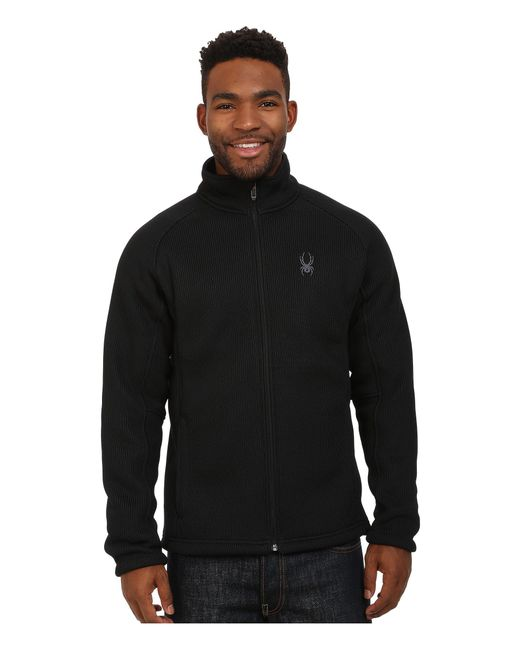 Spyder | Black Foremost Full Zip Heavy Weight Core Sweater for Men | Lyst