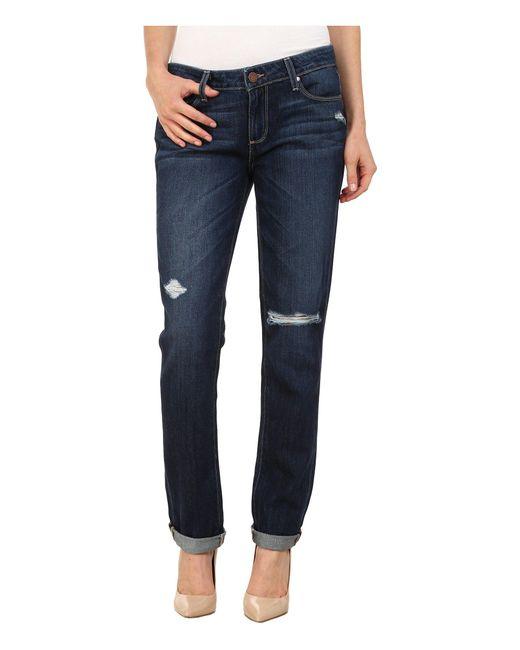 PAIGE   Blue Jimmy Jimmy Skinny Jeans In Elia Destructed   Lyst