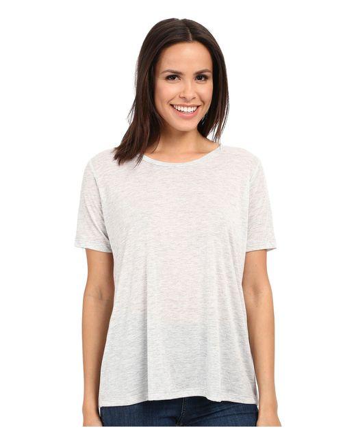 Alternative Apparel | White Melange Jersey Boxy T-shirt | Lyst