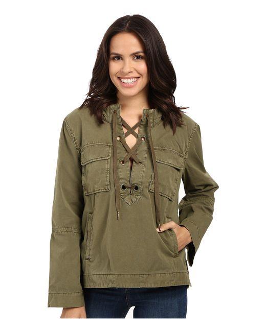 Free People | Green Safari Pullover | Lyst