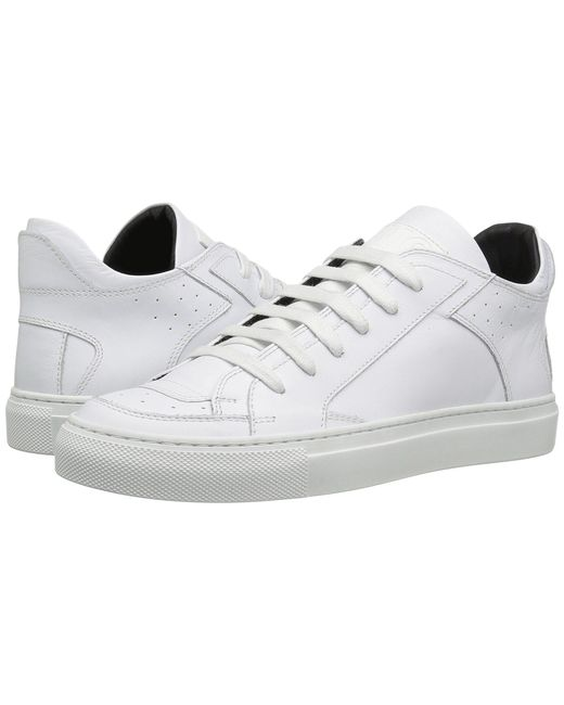 MM6 by Maison Martin Margiela - White Classic Low Lace-up Sneaker for Men - Lyst