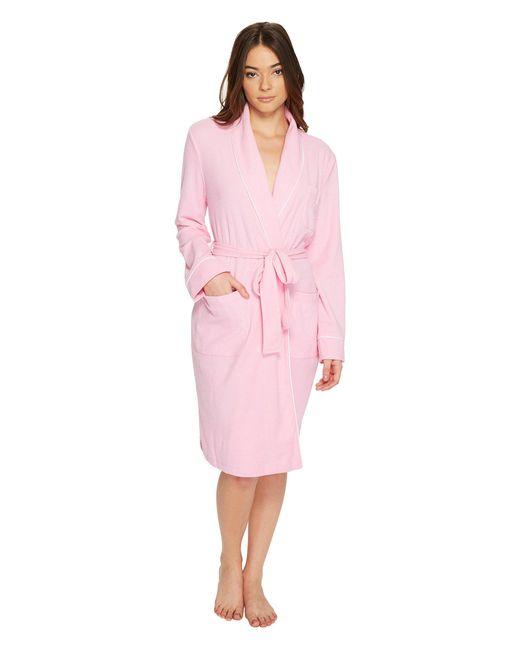 Lauren by Ralph Lauren   Pink Lounge Pique Short Robe   Lyst