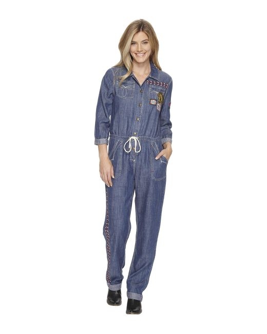 Double D Ranchwear | Blue Chief Five Thunder Boilersuit | Lyst