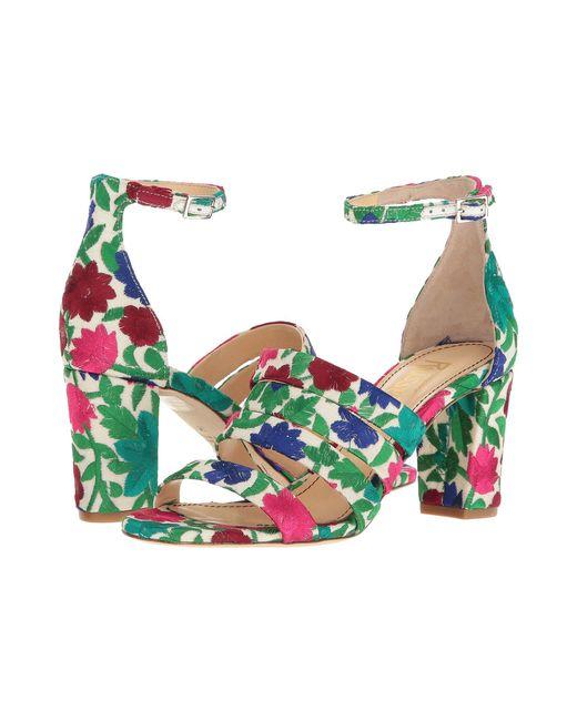 Jerome C. Rousseau | Multicolor Abelline Floral Embroidered Block Heel Sandals | Lyst