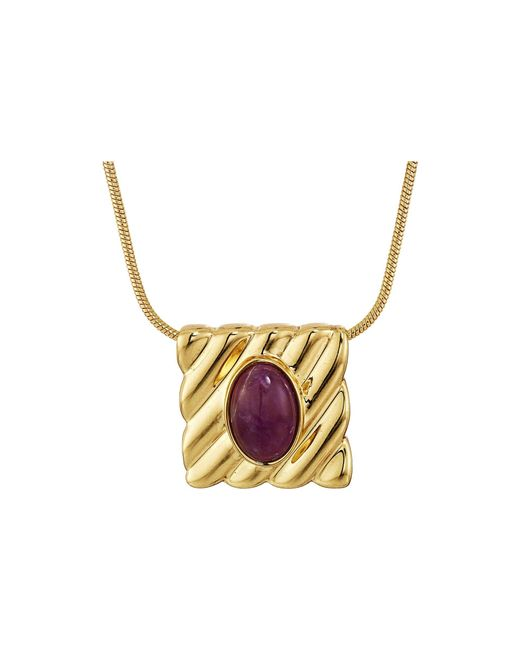 House of Harlow 1960   Multicolor Ribbed Valda Pendant Necklace   Lyst