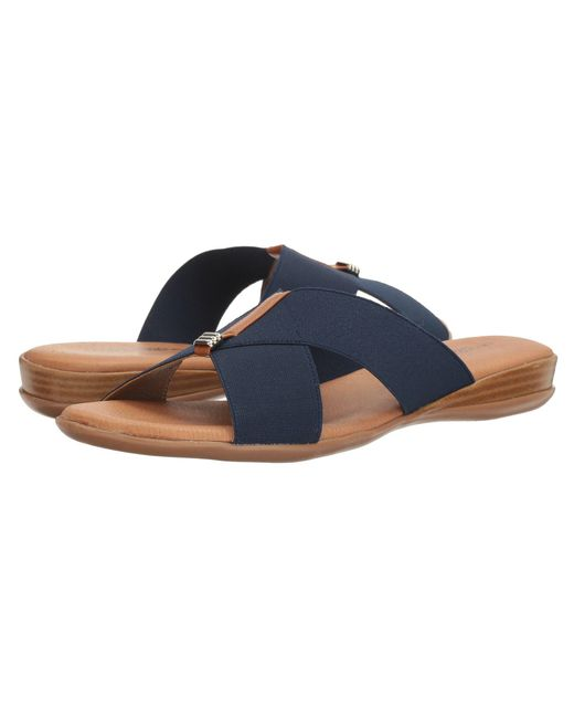 Andre Assous   Blue Nani Stacked Elastic Sandals   Lyst