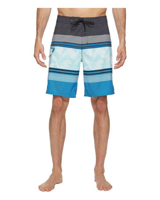 "Vans   Blue Bonsai Stripe Stretch Boardshorts 20"" for Men   Lyst"