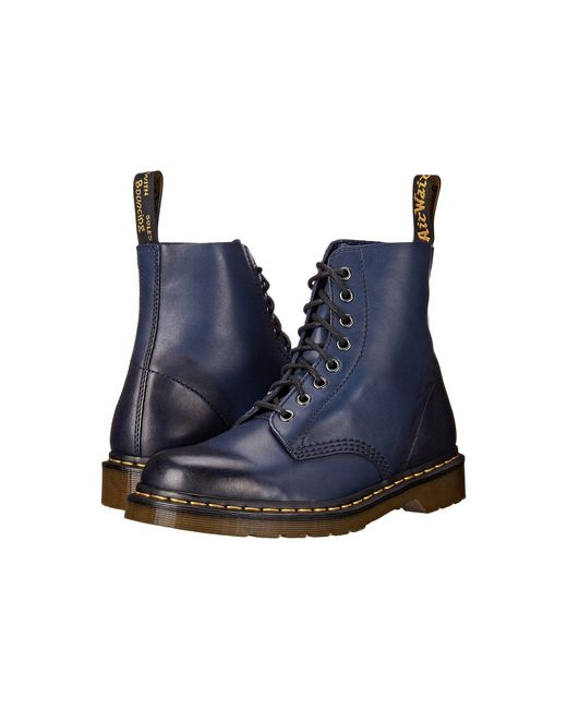 Dr. Martens | Blue Pascal 8-eye Boot | Lyst