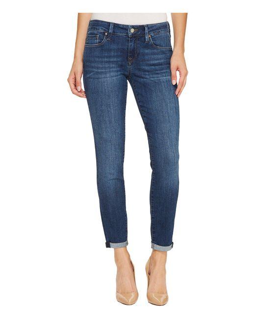 Mavi Jeans - Blue Alexa Mid-rise Skinny Ankle In Dark Indigo Tribeca - Lyst