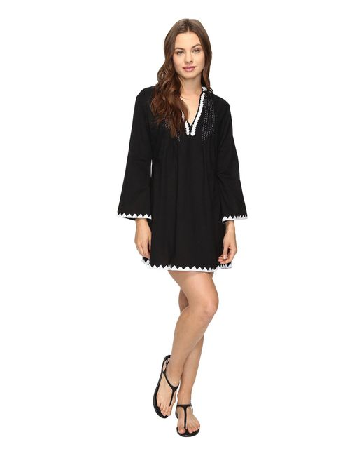 Athena - Black Laila Tunic Cover-up - Lyst