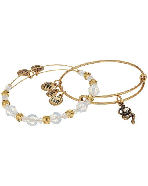 ALEX AND ANI   Metallic Crystal Snake Bracelet Set Of 2   Lyst