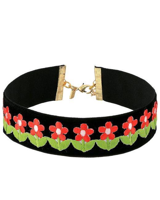 Vanessa Mooney - Black The Flower Power Choker Necklace - Lyst
