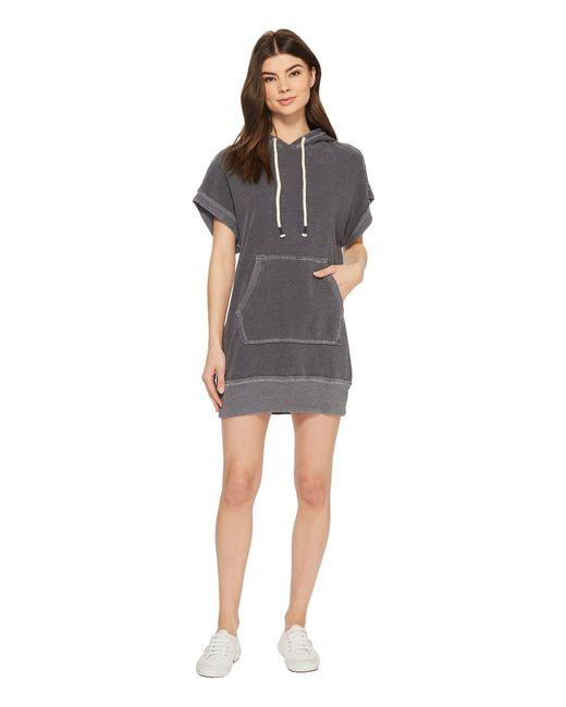 Splendid - Gray Sleeveless Sweatshirt Hoodie Dress - Lyst