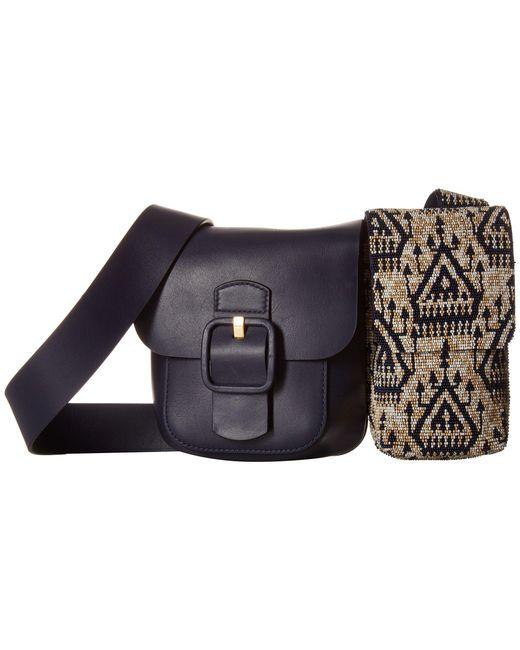 Tory Burch - Blue Sawyer Embellished Double-pocket Shoulder Bag - Lyst