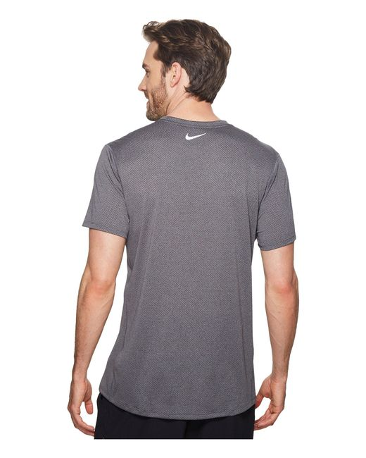171798f3f10da ... Nike - Gray Cool Miler Short-sleeve Running Top for Men - Lyst ...