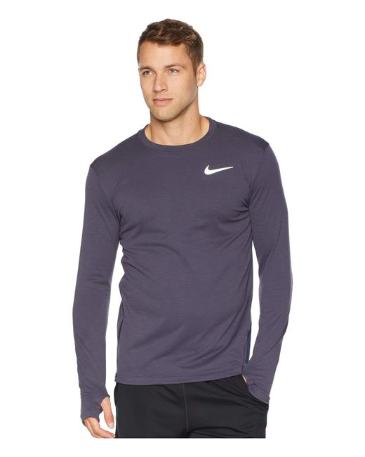1ade647e Nike - Multicolor Sphere Element Top Crew Long Sleeve 2.0 for Men - Lyst ...