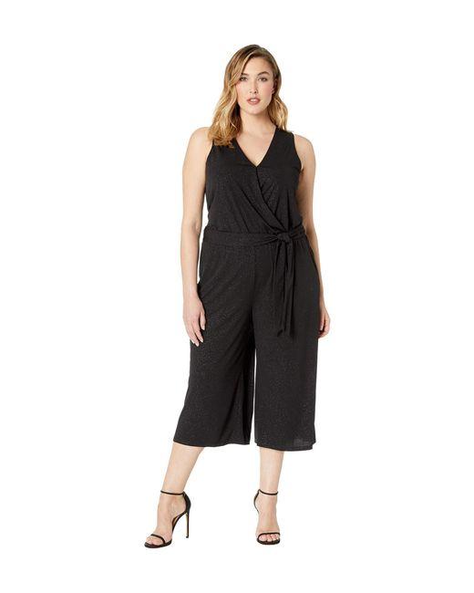 f355c903a4f Lyst - MICHAEL Michael Kors Plus Size Wrap Crop Jumpsuit in Black ...