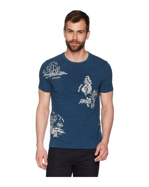 Polo Ralph Lauren - Blue 20s/1 Uneven Jersey Short Sleeve T-shirt for Men - Lyst