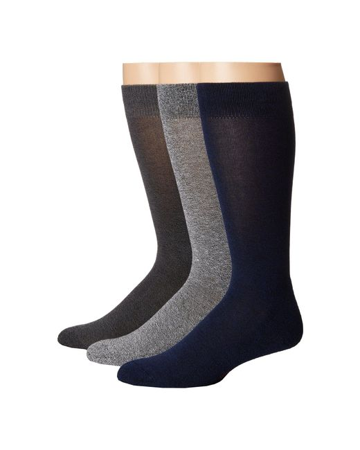 Hue - Black Marled Sock With Half Cushion 3-pack for Men - Lyst